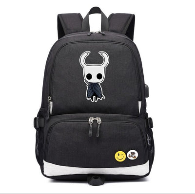 Children's Hollow Knight usb charging Laptop canvas Backpack