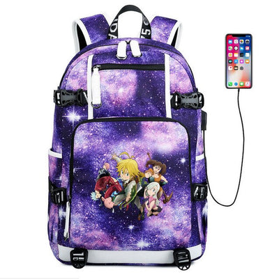 The Seven Deadly Sins usb charging Laptop Backpack