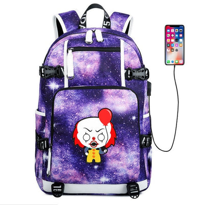 Stephen King's It printing usb charging canvas Laptop Backpack