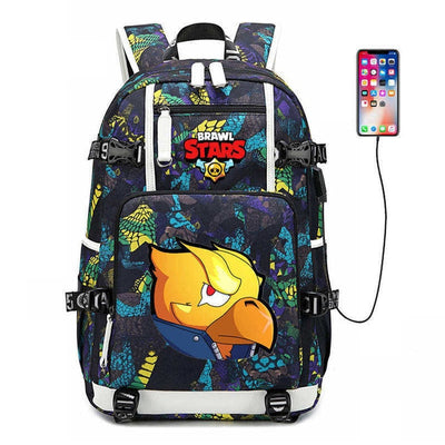 Brawl Stars usb charging Teenager canvas Backpack