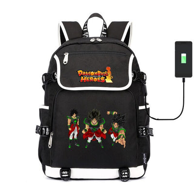 Super Dragon Ball Heroes usb charging canvas Laptop Backpack