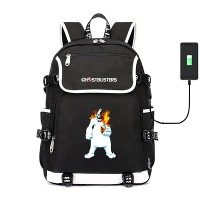 Kid's Ghostbusters usb charging canvas Laptop Backpack
