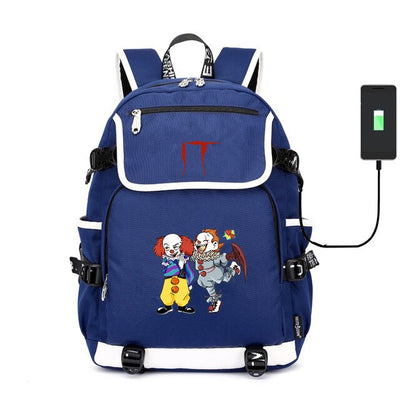 Movie Stephen King's It School usb charging canvas Backpack