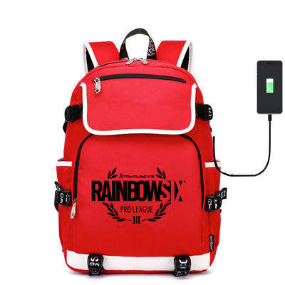 Game Rainbow Six Siege canvas usb charging Backpack