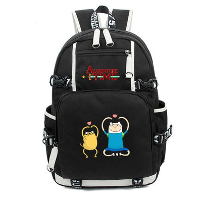 Adventure Time jake finn printing Canvas Backpack