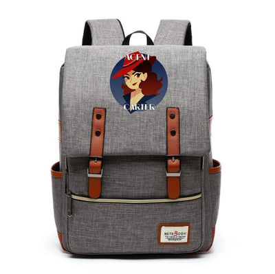 Agent carter preppy styles Canvas Backpack