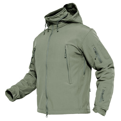 Winter Soft Shell Hunt Jackets Army Removable Hooded Windbreaker