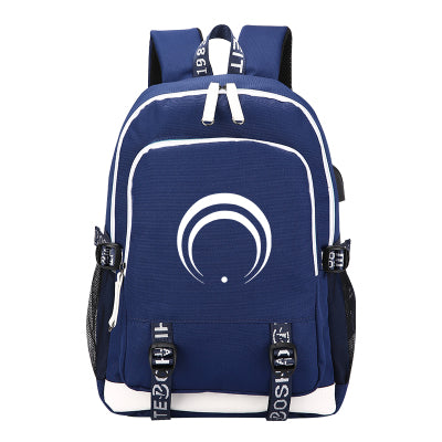 Touken Ranbu Online Girl Game Anime Student Book Rucksack With USB Port Charging