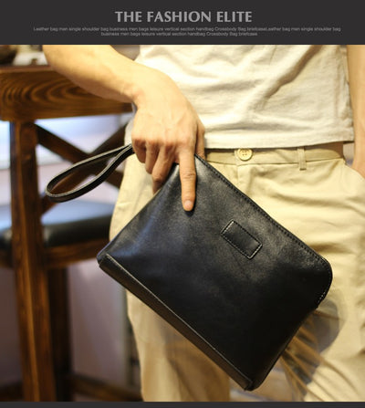 Fashion Men's Wallet PU Leather High quality Zipper Business Purses Clutch Bag