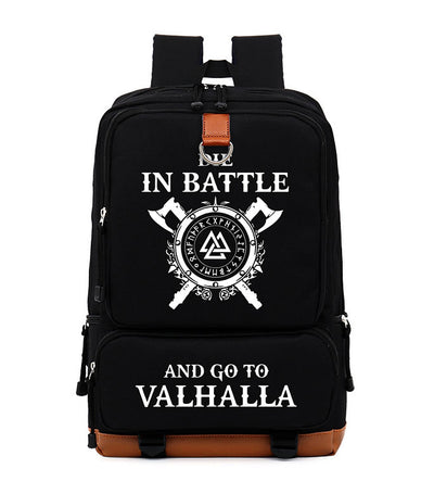 Die In Battle And Go To Valhalla Odin Vikings Women Men Leisure backpack