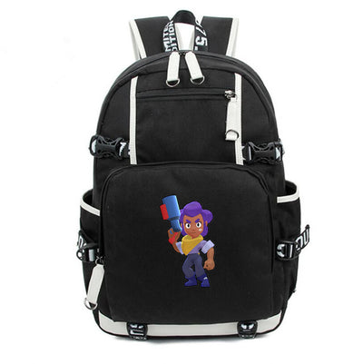 Student's Brawl Stars canvas Laptop Backpack