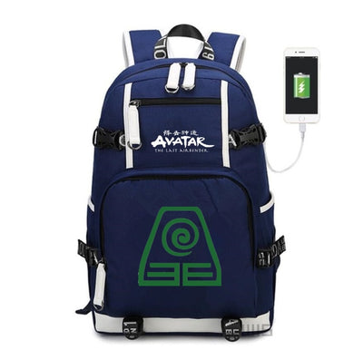 Avatar The Last Airbender canvas USB Charge backpack