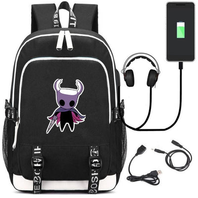 Hollow Knight Bardoon wyrm music USB Charging school canvas Backpack