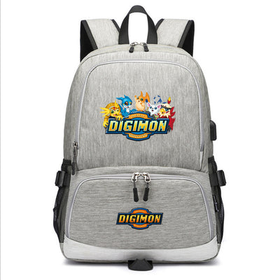 Children's  Digimon Adventure School canvas Backpack