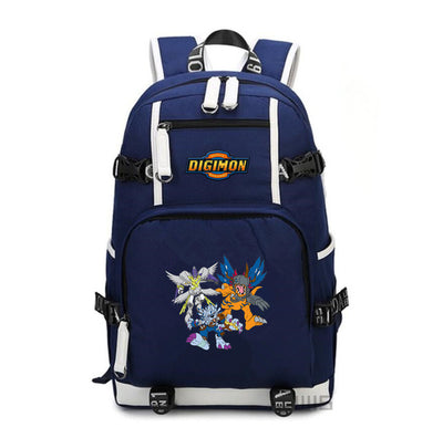 Digimon Adventure printing canvas Backpack