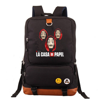 Children's La Casa De Papel paper house mochila printing Backpack