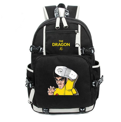 Chinese Kung-fu Bruce Lee printing Canvas Backpack