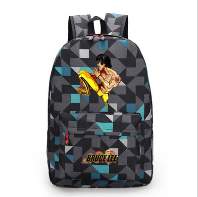 Chinese Kung-fu star Bruce Lee canvas backpack