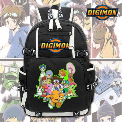 Digimon Adventure Digital Monster canvas Laptop Backpack
