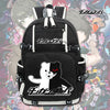 Anime Danganronpa Monokuma Black Laptop Backpack
