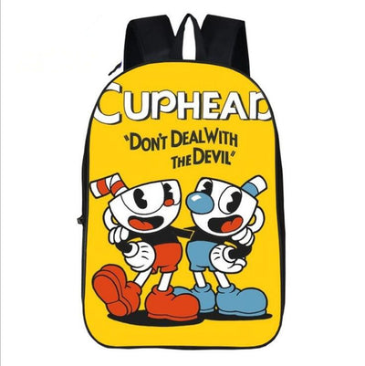 Game Cuphead Mugman Cartoon Laptop backpack
