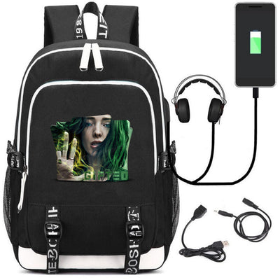 Heros The Gifted Polaris Printed multifunction USB charging backpack