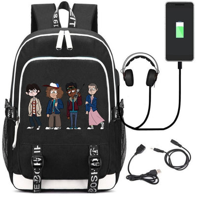 Stranger Things DEMOGORGON 11 USB Charging Headphone Backpack