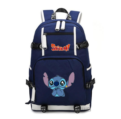 Anime stitch Large Oxford Printing Backpack