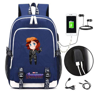 Film Revenger heros USB Charging Headphone  Backpack