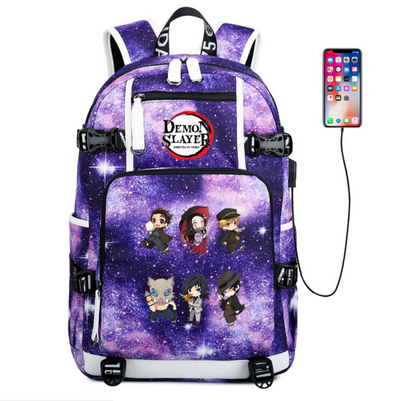 Anime Demon Slayer: Kimetsu no Yaiba Usb Charge Backpack