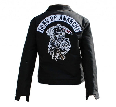 Hot TV Sons of Anarchy Cosplay Costume Mens Zipper Jackets