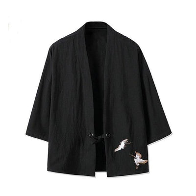 Japanese cardigan men traditional fashion japanese kimono shirt