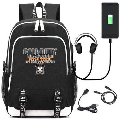 Hot Game CallofDuty USB Travelling Laptop Backpack