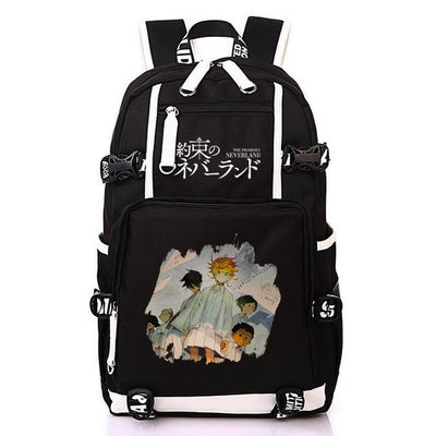 Anime The Promised Neverland Printing Laptop Backpack