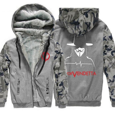 V for Vendetta Mask Guy Fawkes Fashion Hoodies