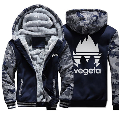 Japan Anime Dragon Ball Vegeta Winter Men Thick Warm Fleece Jacket