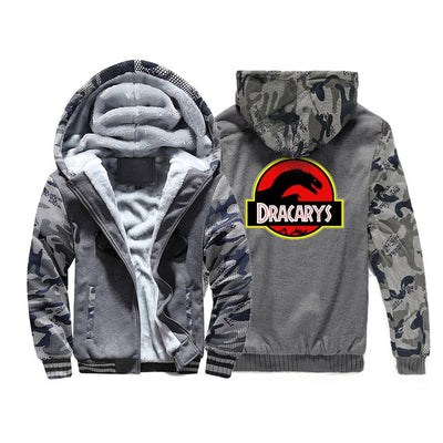 Winter Camo Thick Warm Fleece Game of Thrones Dracarys Jacket
