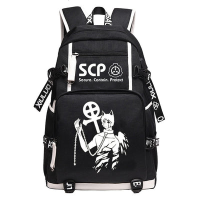 SCP Foundation USB Laptop Black Bookbag