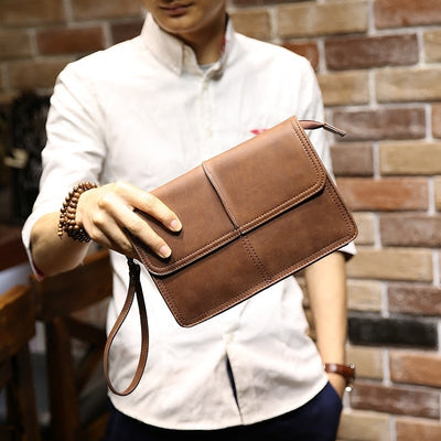 New Design Crazy Horse PU Leather Men's Clutch Bags Wallet