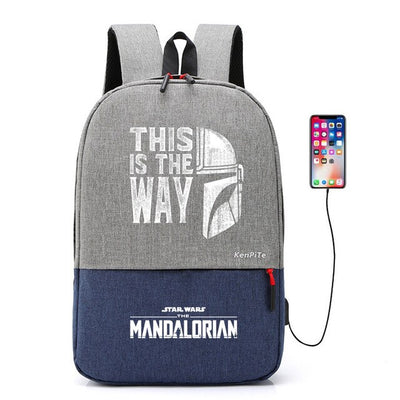 The Mandalorian baby Yoda canvas Backpack