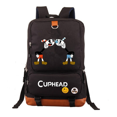 Kid's Cuphead  Mochila students Casual canvas Laptop Backpack