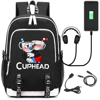 cuphead New Laptop External USB Charge Backpack