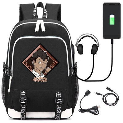 Anime The Promised Neverland Cosplay Emma Norman Ray Unisex Laptop Travel Backpack