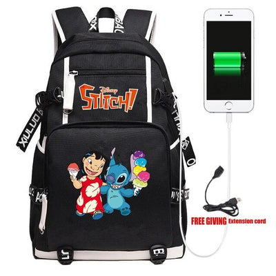 Anime Lilo & Stitch Men's Women Backpack