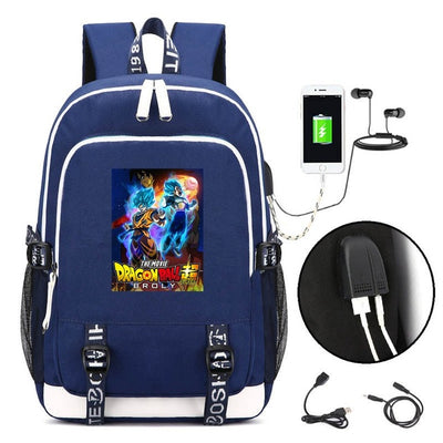 Anime Dragon Ball Super Broly Laptop USB Backpack