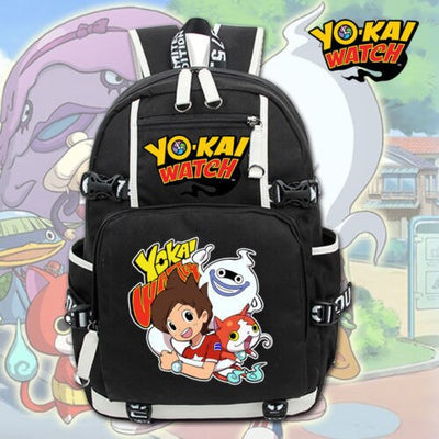 Game Yo-Kai Watch School Unisex Laptop Shoulder Backpack