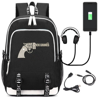 Hot TV The Walking Dead USB Kids Teens Laptop Travel Backpack