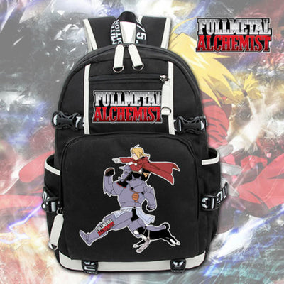 Anime Fullmetal Alchemist Shoulder Laptop Travel Backpack