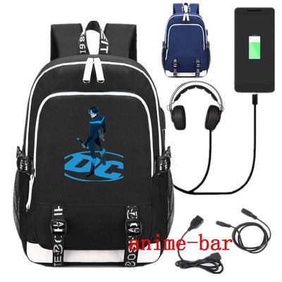 Superhero Robin Nightwing School USB Charge Interface Backpack