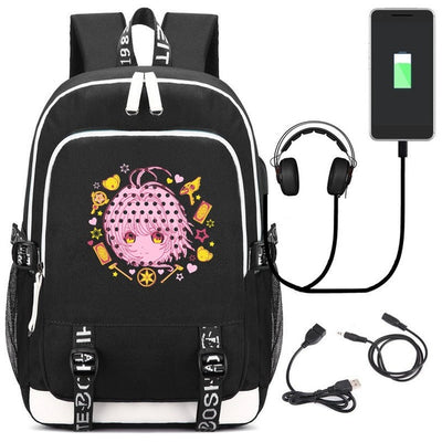 Anime Cardcaptor Sakura USB Charge Interface Laptop Backpack